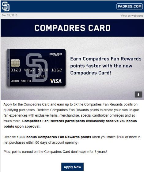 Compadres Card Ad